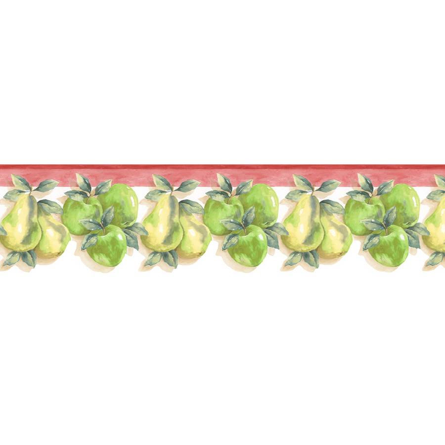 Kitchen Style Apple And Pear Prepasted Wallpaper Border at Lowes com 900x900