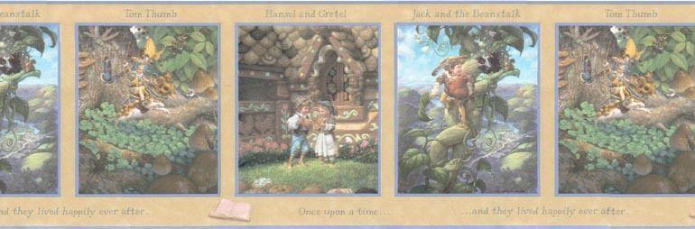 Fairies Jack and The Beanstalk Wallpaper Border WF103351 eBay 770x254