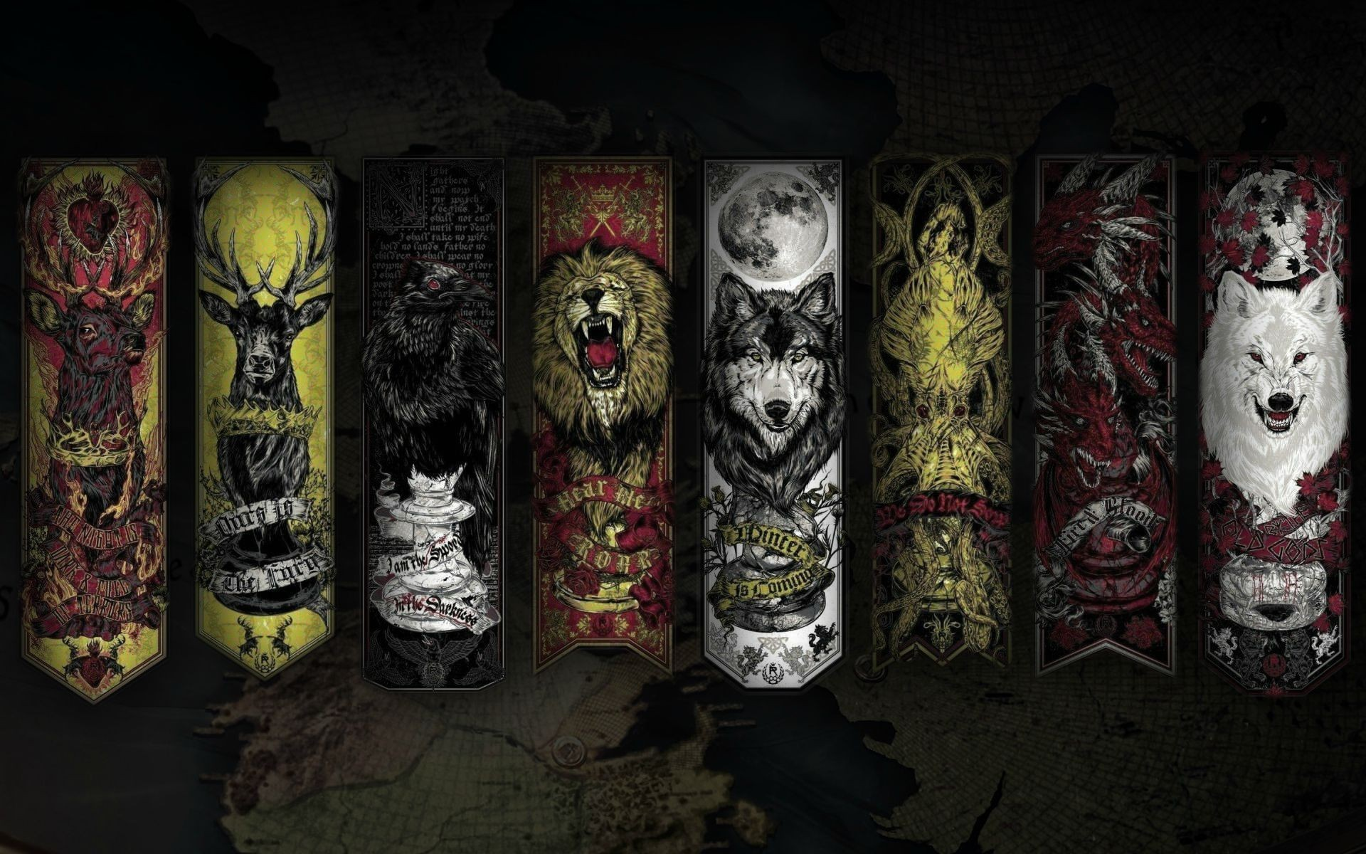 Game of Thrones HD Wallpaper Sigils Game Of Thrones Wallpapers 1920x1200