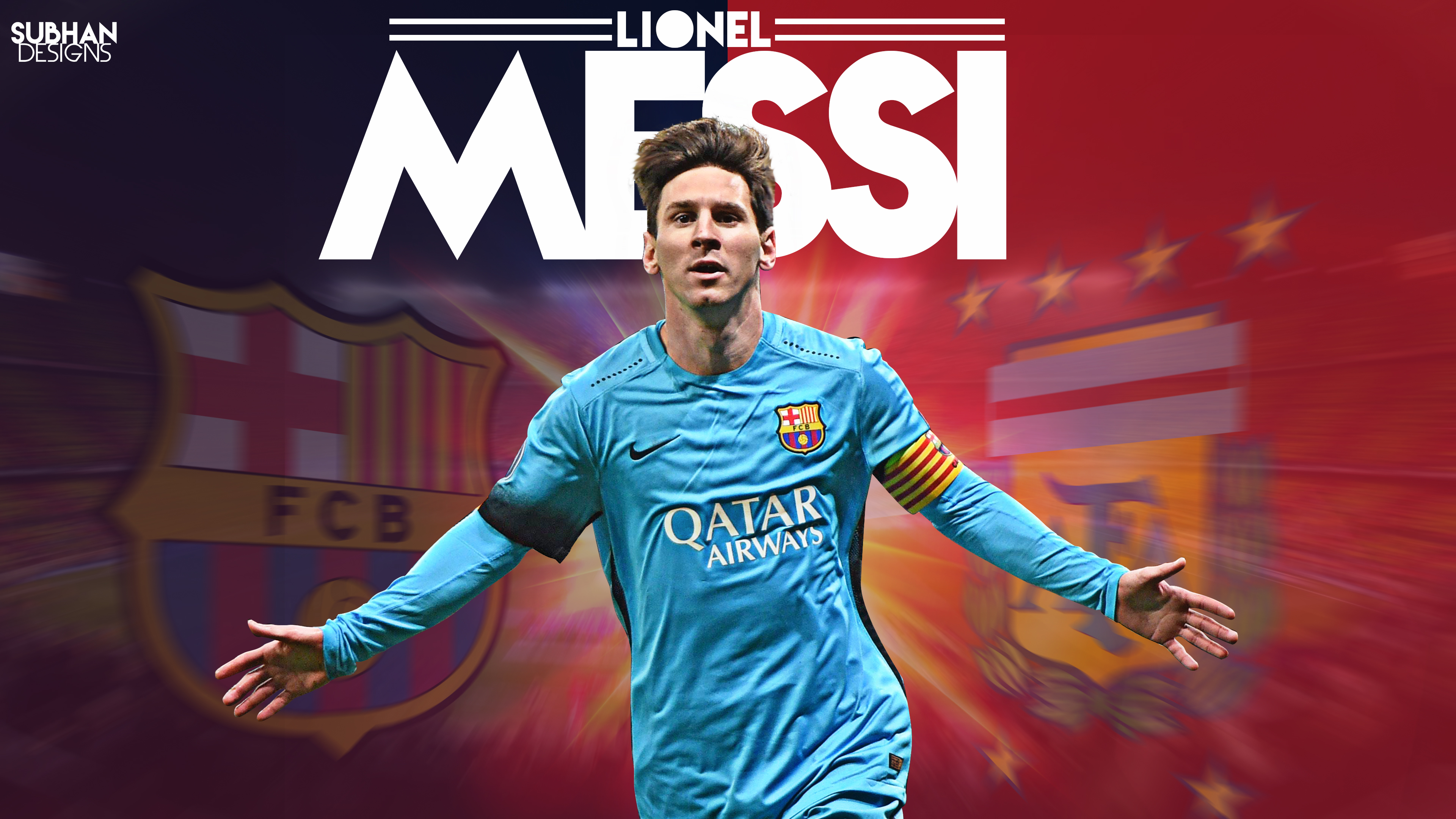 Lionel Messi 2016 wallpaper 4K by subhan22 3840x2160