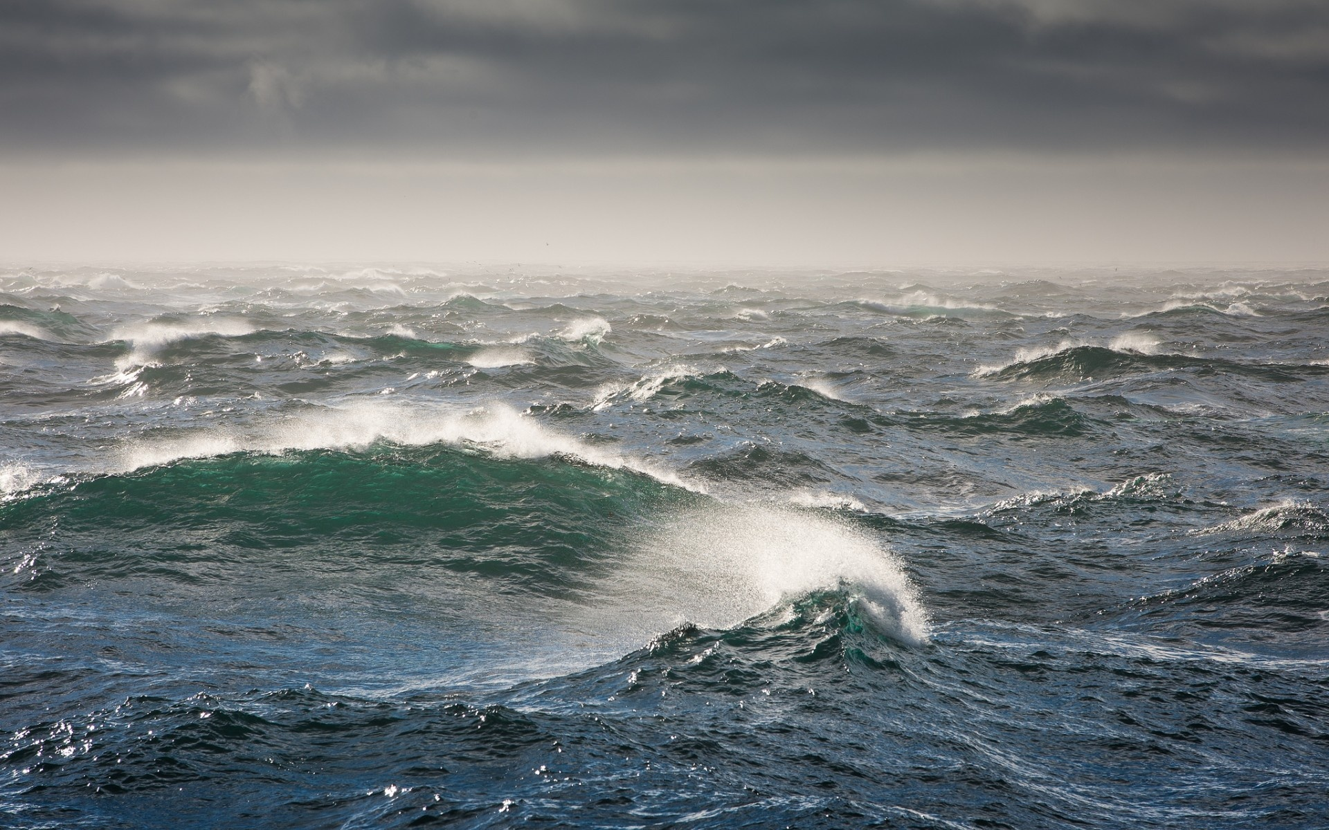 Wallpaper Bering Sea, Sea, waves, storm desktop wallpaper » Nature ...