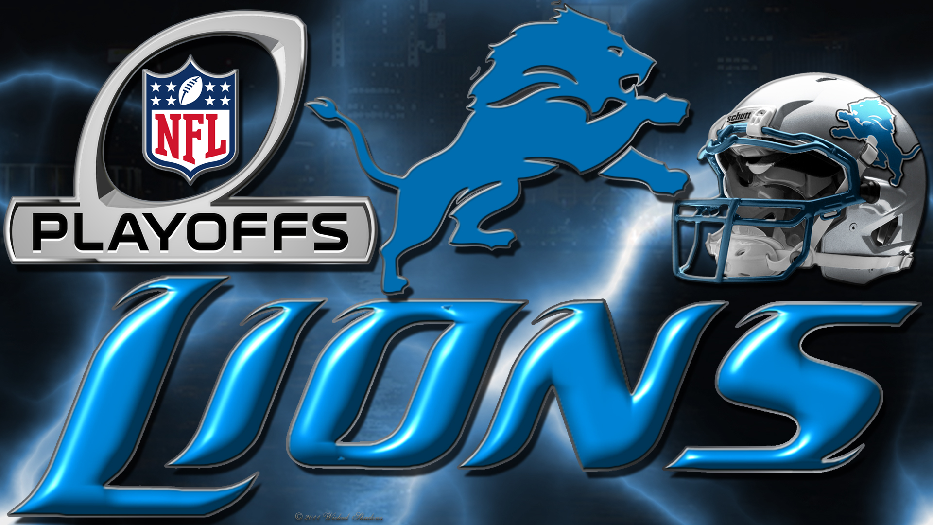 Wallpapers By Wicked Shadows Detroit Lions 2012 Playoffs Wallpaper 1920x1080