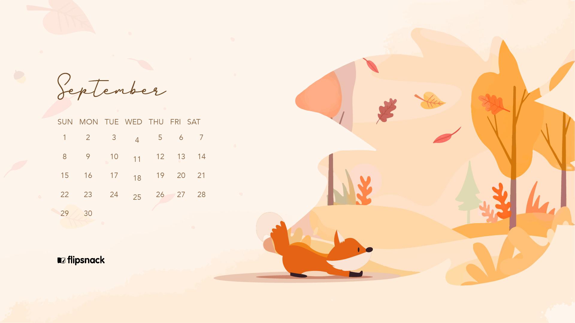 September 2019 wallpaper calendars   Flipsnack Blog 1920x1080