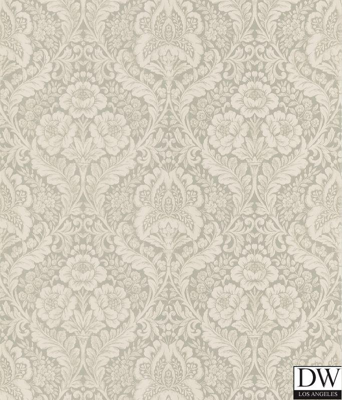 Medici Beige Damask Wallpaper Designer Wallcoverings and Fabrics 683x800