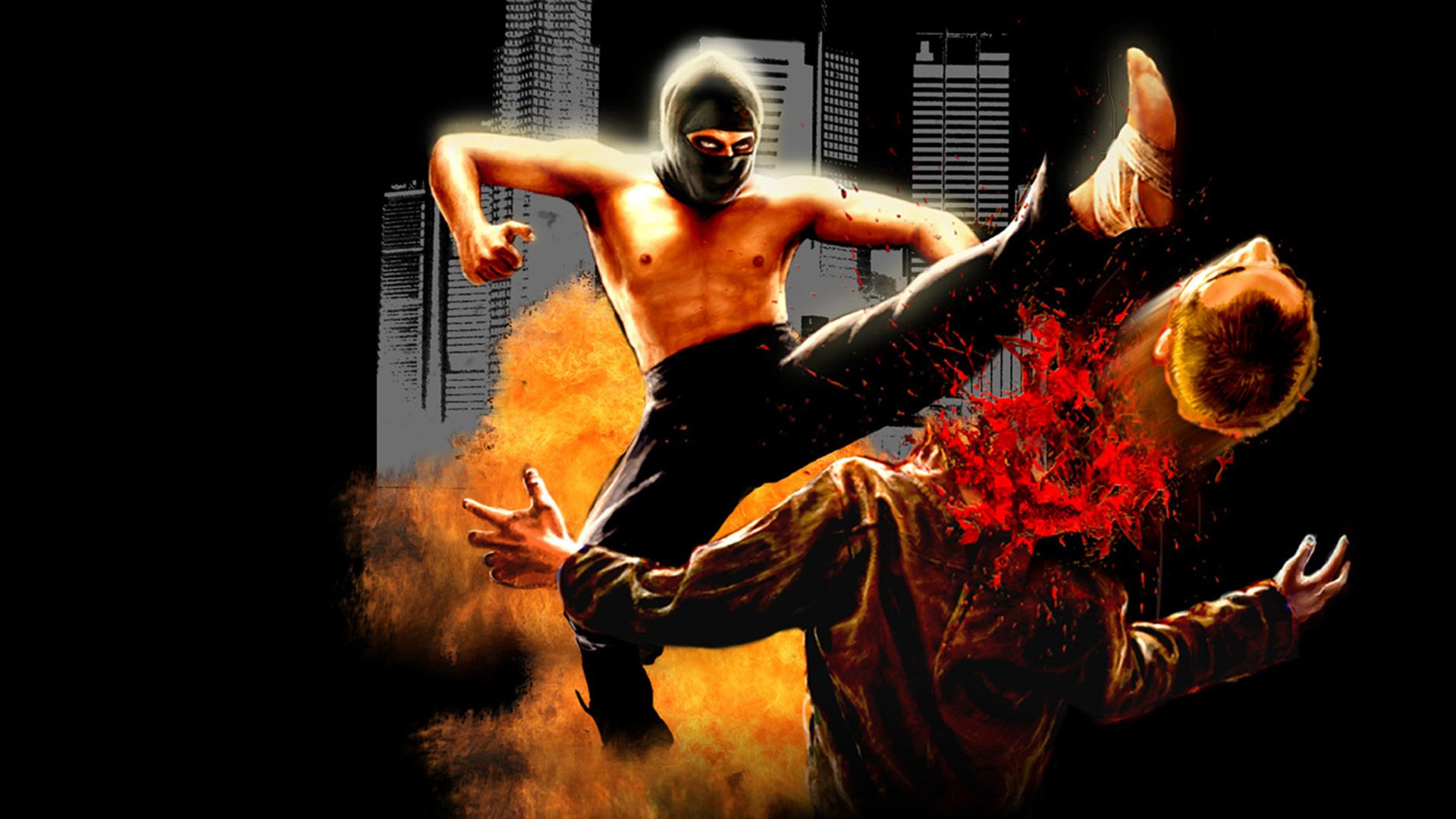 DARK ANGEL PSYCHO KICKBOXER martial arts fighting action dark 1920x1080