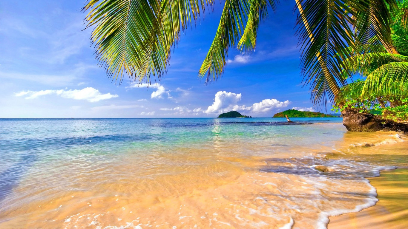 Tropical Beach HD Wallpapers 1366x768