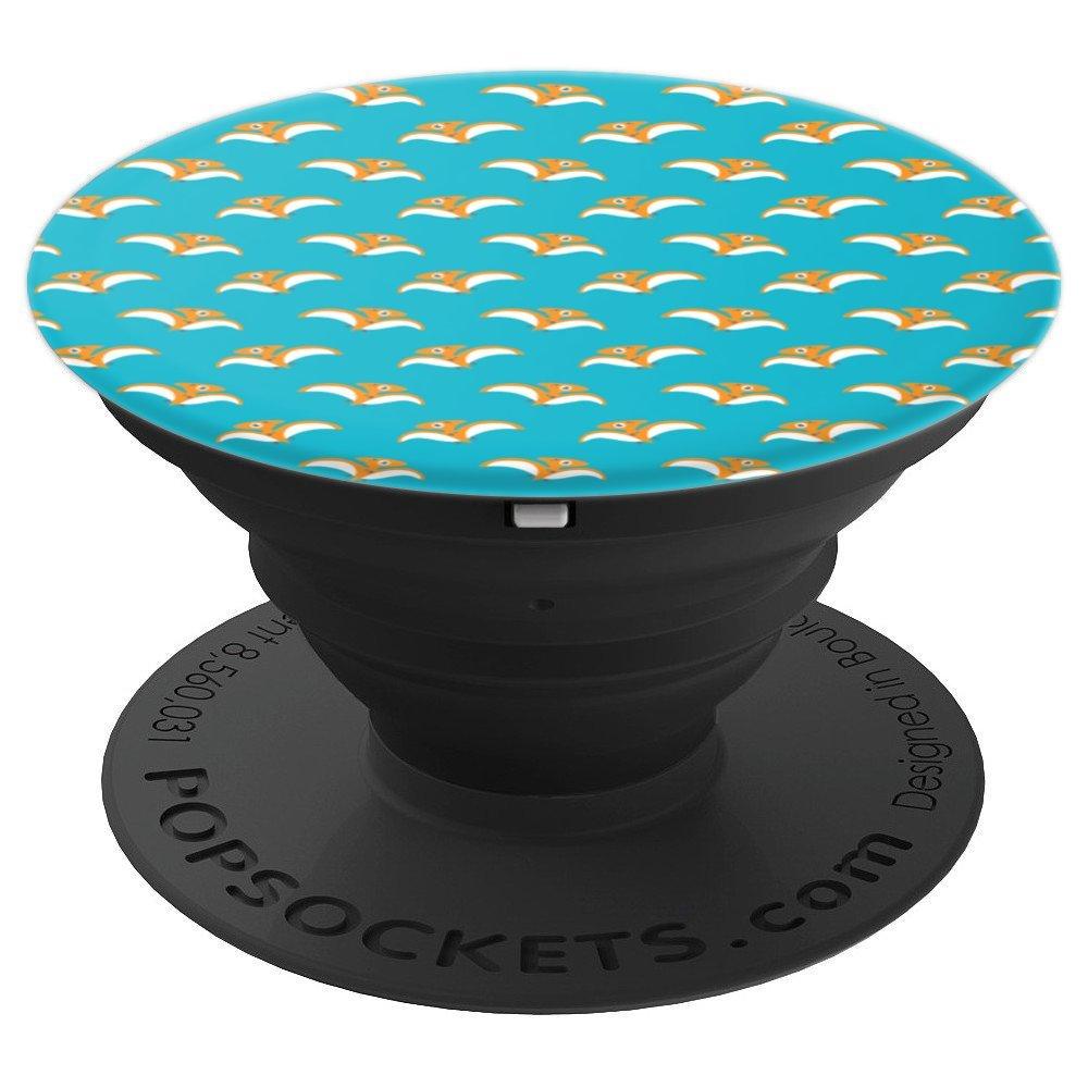 Amazoncom Colourful Lyfe Orange Dinosaur PopSocket Blue Aqua 1000x1000