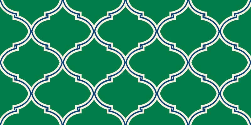 Preppy Pattern Wallpaper Lily trellis in preppy green 800x400