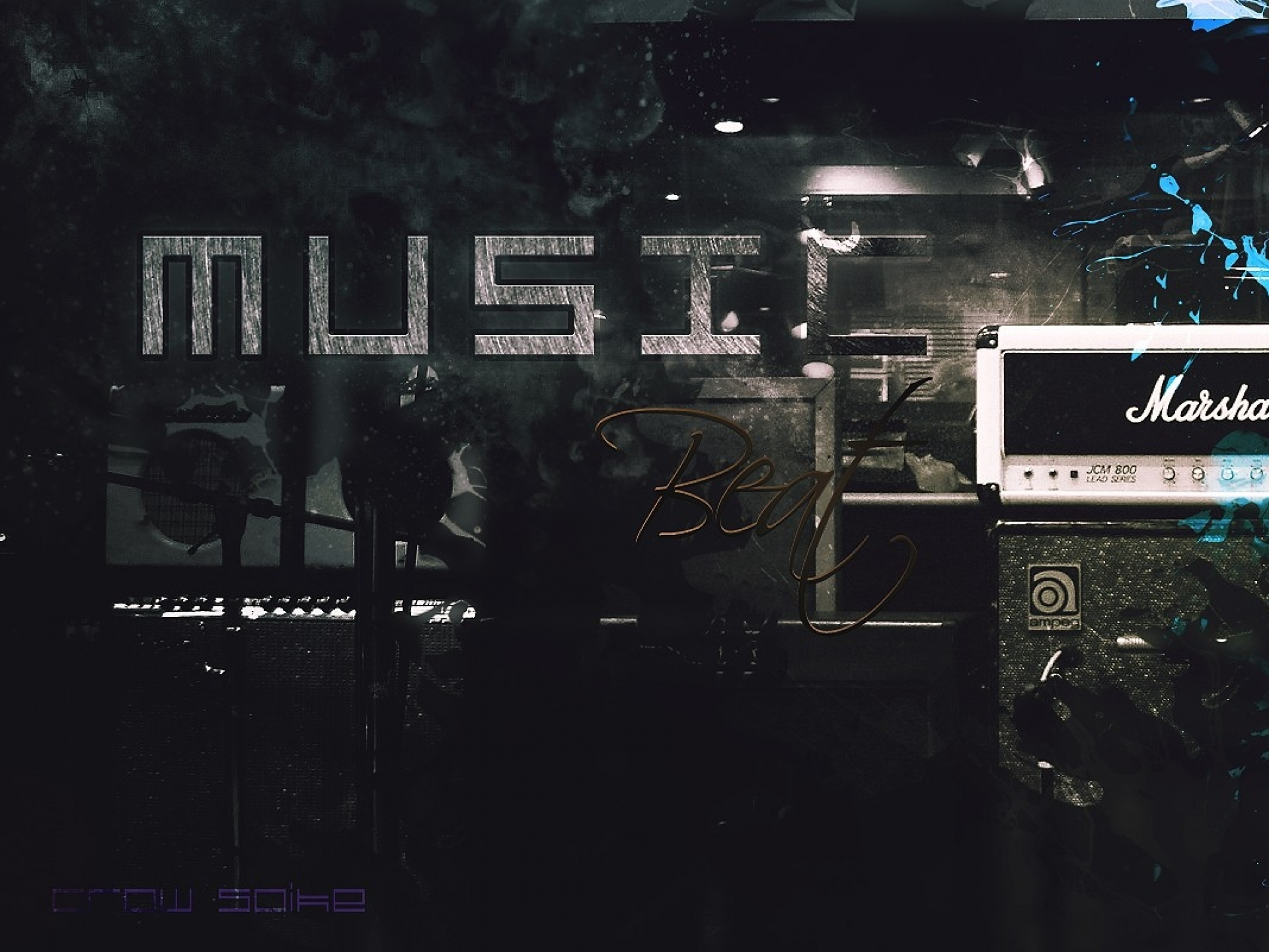 music studio marshall splatter crows microphones photomanipulations 1920x1440
