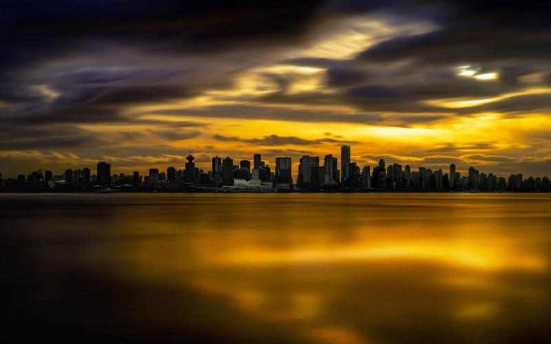 Name Vancouver Skyline Sunset Wallpaper 800x500