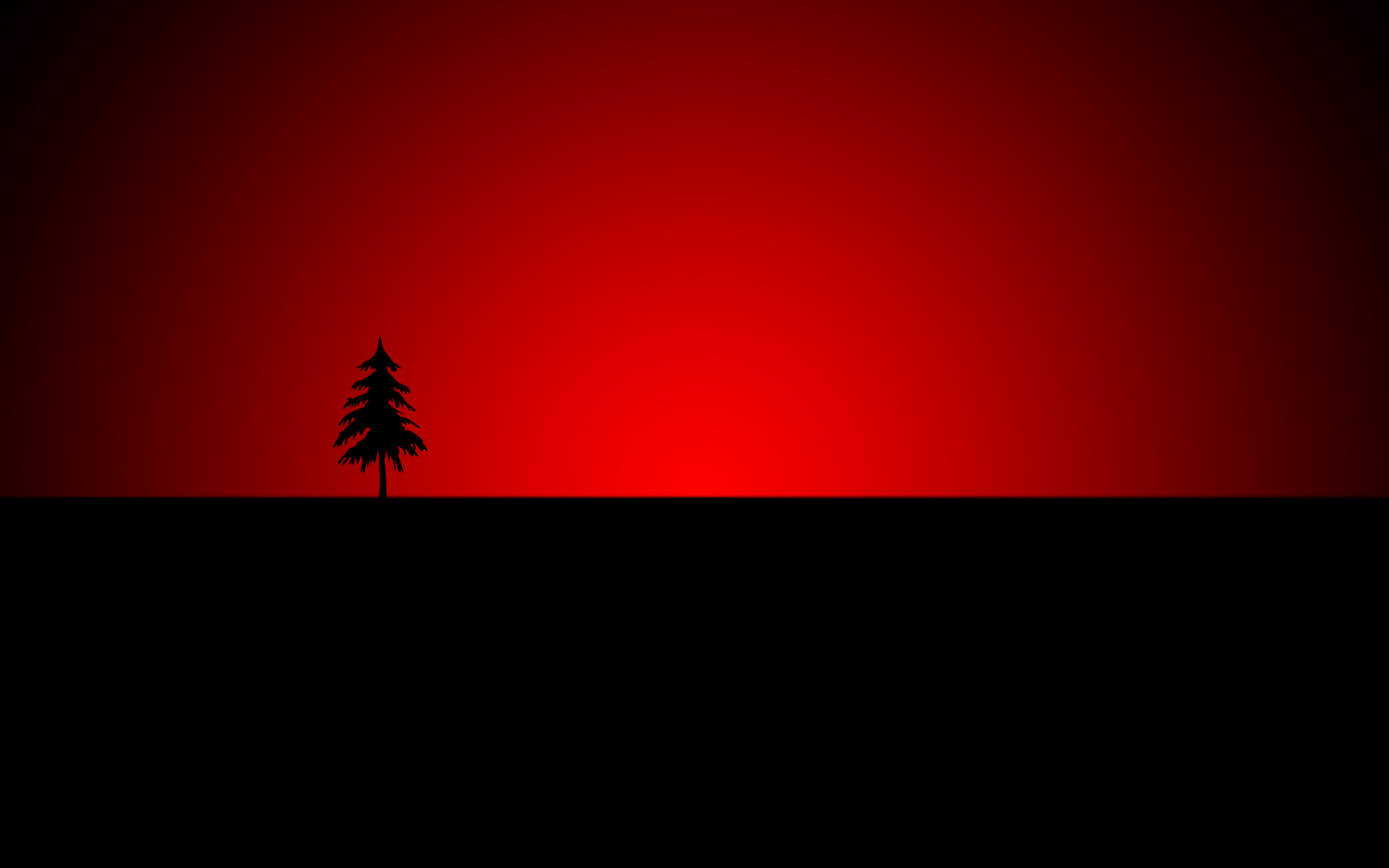 Wallpaper 16 Tree Red and Black Wallpapers 2560x1600