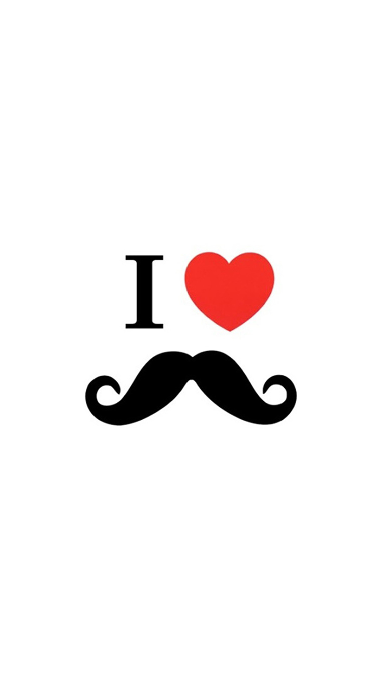 Cute I Love Beard iPhone 5s Wallpaper Download iPhone Wallpapers 744x1392
