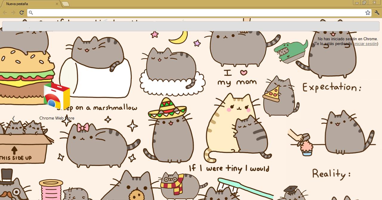 Pusheen The Cat Wallpaper for Pinterest 1280x671