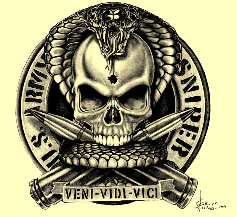 Us Army Sniper Logo Us army sniper by pipitrento 800x732