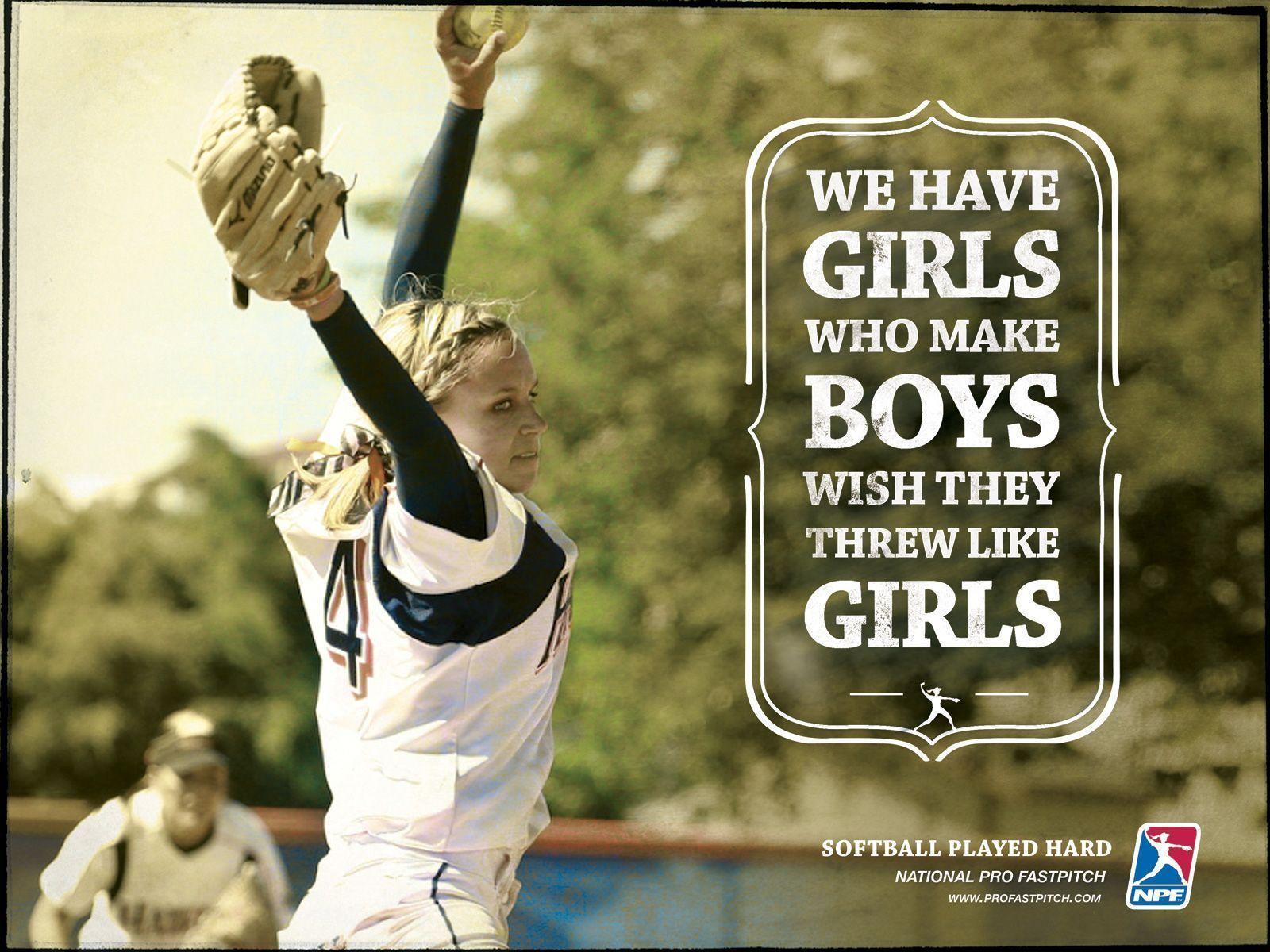 Girls Softball Wallpapers   Top Girls Softball Backgrounds 1600x1200