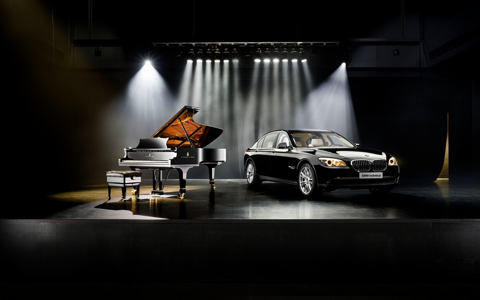 BMW Car Piano Stages Steinway And Sons Wallpapers HD Desktop 1920x1200