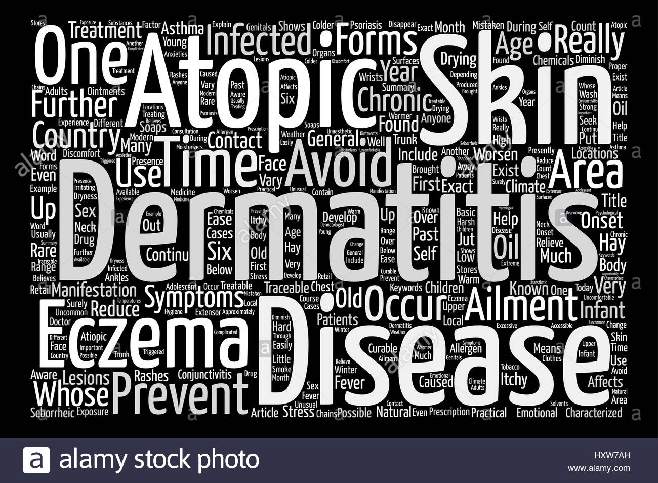 Eczema Or Atopic Dermatitis Anyone Word Cloud Concept Text 1300x954