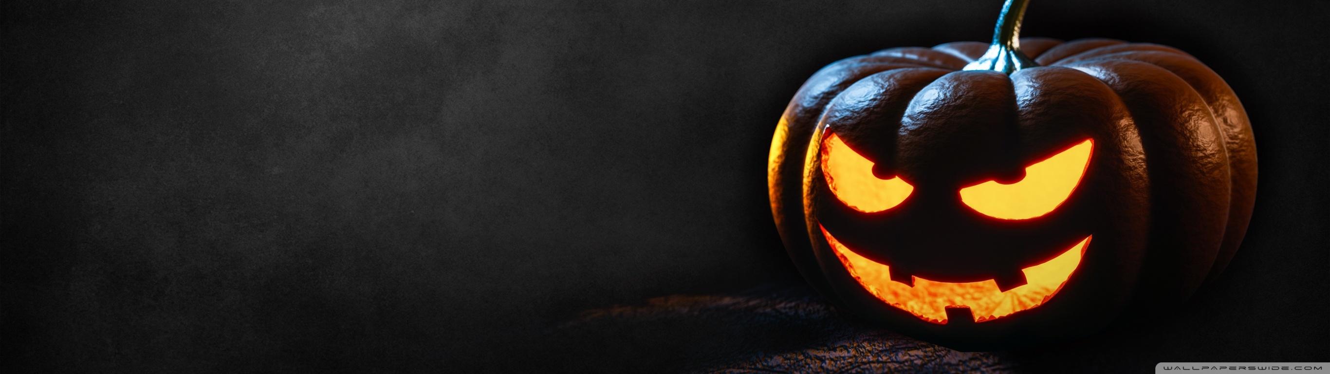 Happy Halloween 2016 4K HD Desktop Wallpaper for Wide 2732x768
