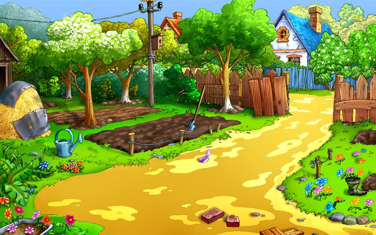 Cartoon garden wallpaper cartoon wallpaper 1280x800