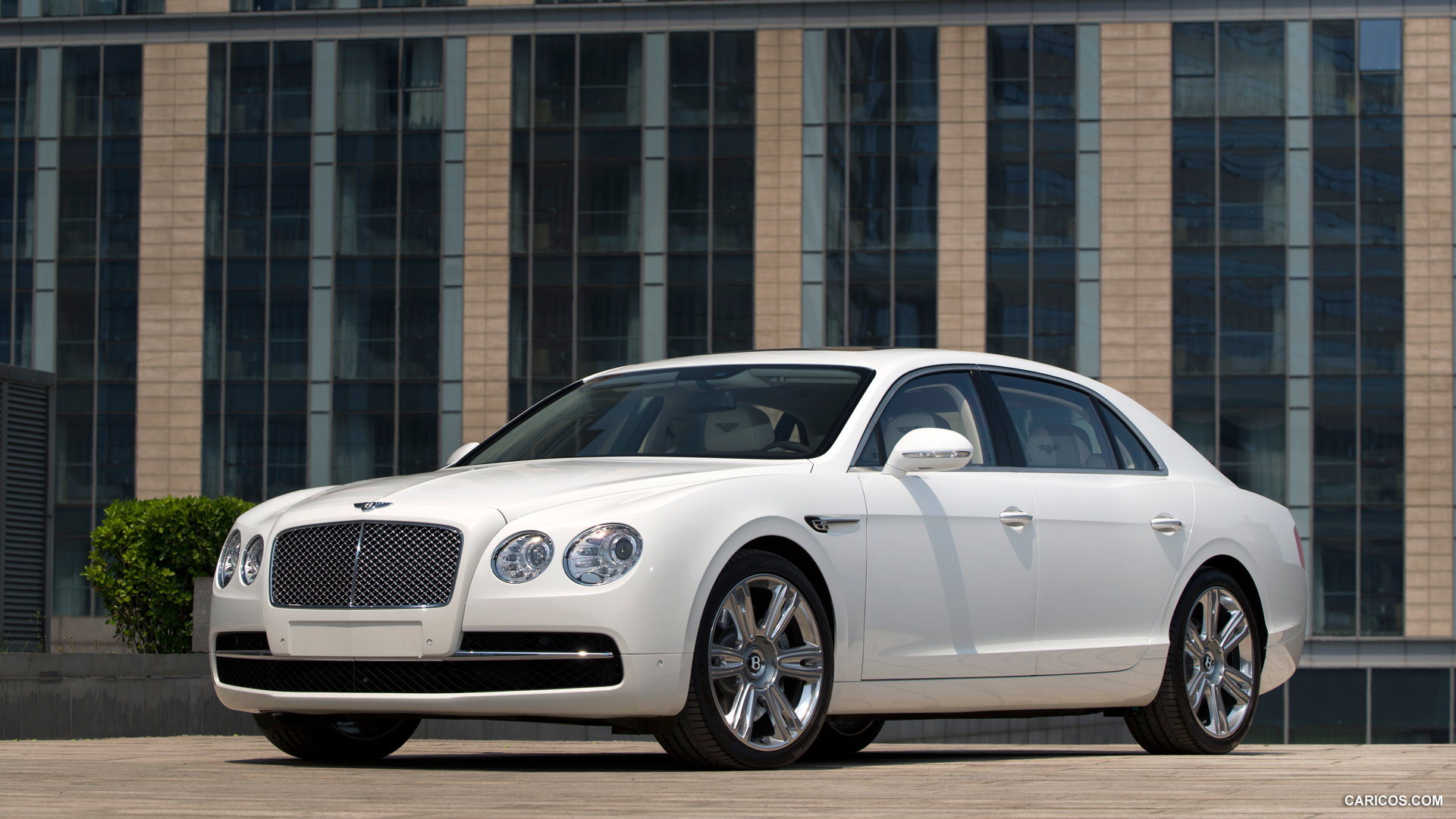 2014 Bentley Flying Spur Glacier White   Front HD Wallpaper 49 1920x1080