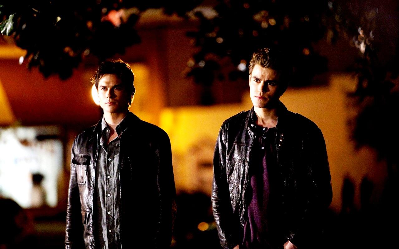 DamonStefan   Damon and Stefan Salvatore Wallpaper 24875796 1280x800