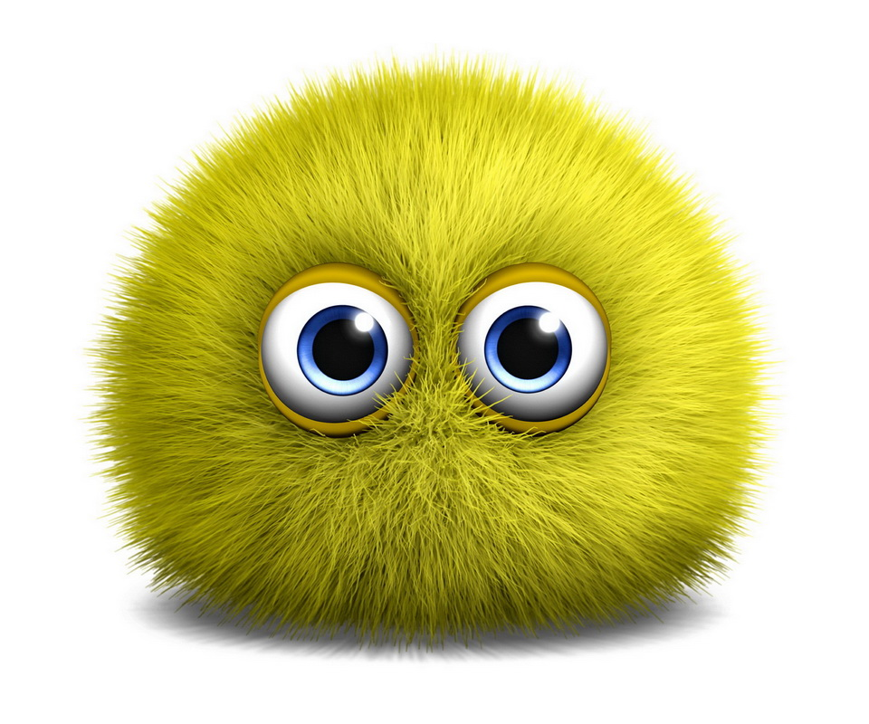 ball 3d fuzzy monster cute monsters yellow whatsapp fluffy cartoon funny wallpapers cg abstract eye furry profilbilder puffy face animated