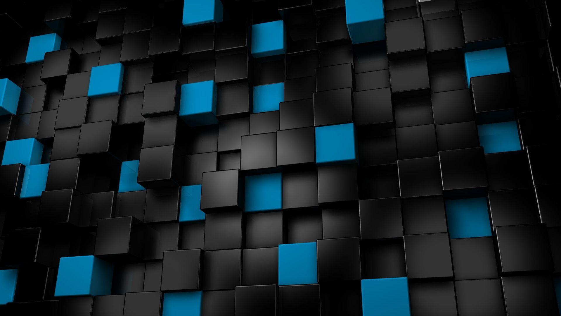 Black 3D Backgrounds 1920x1080