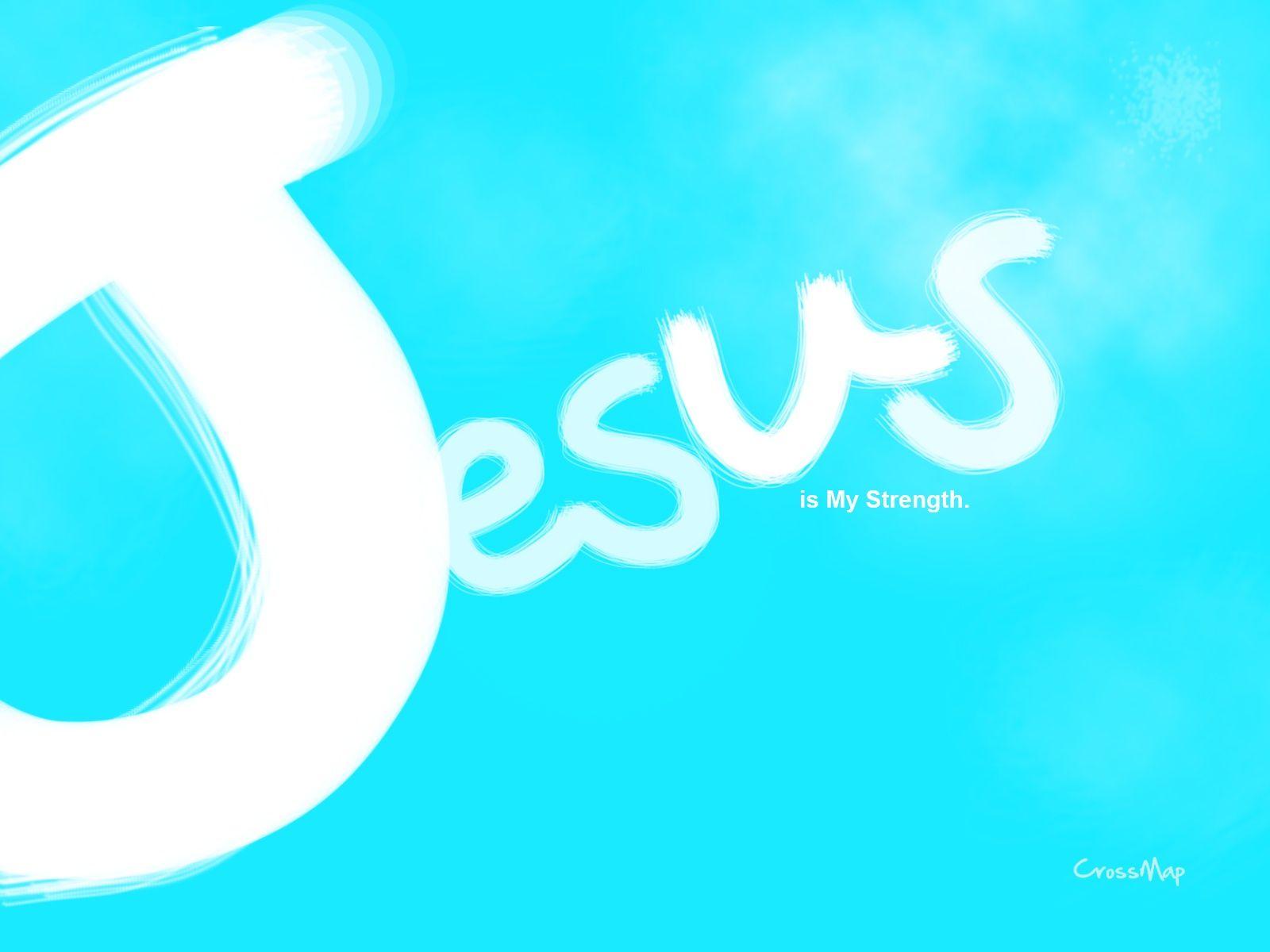 Jesus is my strength Christian Illustrations Crossmap 1600x1200