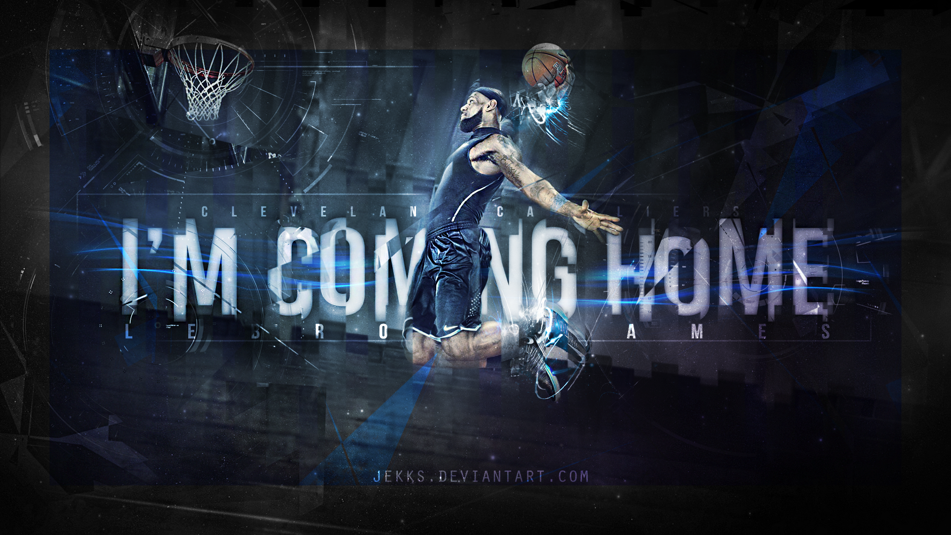 LEBRON JAMES   IM COMING HOME   CAVALIERS by Jekks 1920x1080