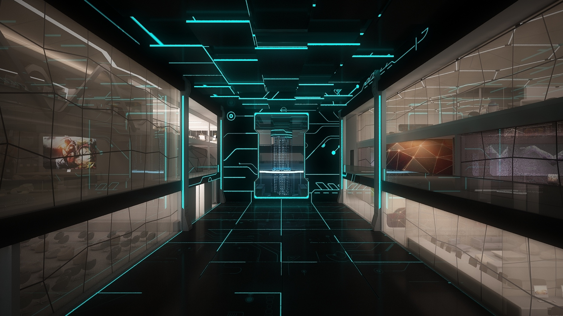 Staley room technology sci fi science computer futuristic wallpaper 1920x1080