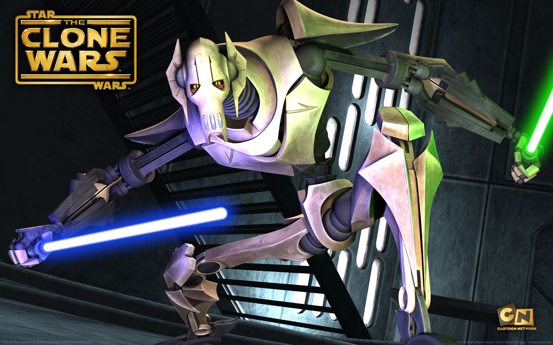 star wars clone wallpaper general grievous background animated 1920x1200