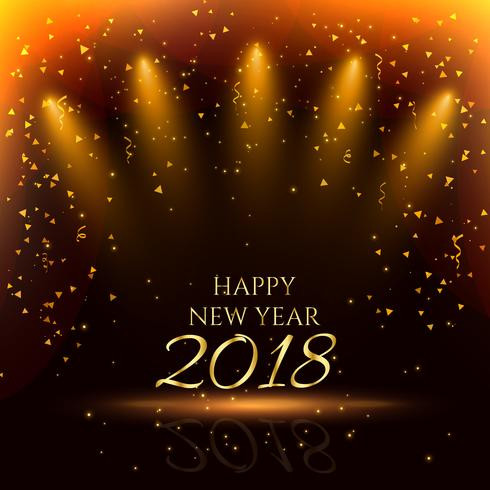 happy new year party background with golden confetti 490x490