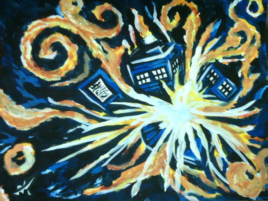 Go Back Gallery For Tardis Wallpaper Van Gogh 900x674