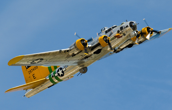 Wallpaper b 17 flying fortress flying fortress heavy four engine 596x380