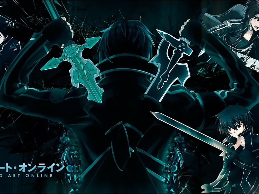 download SAO Anime Kazuto Kirigaya wallpaper desktop background 1024x768