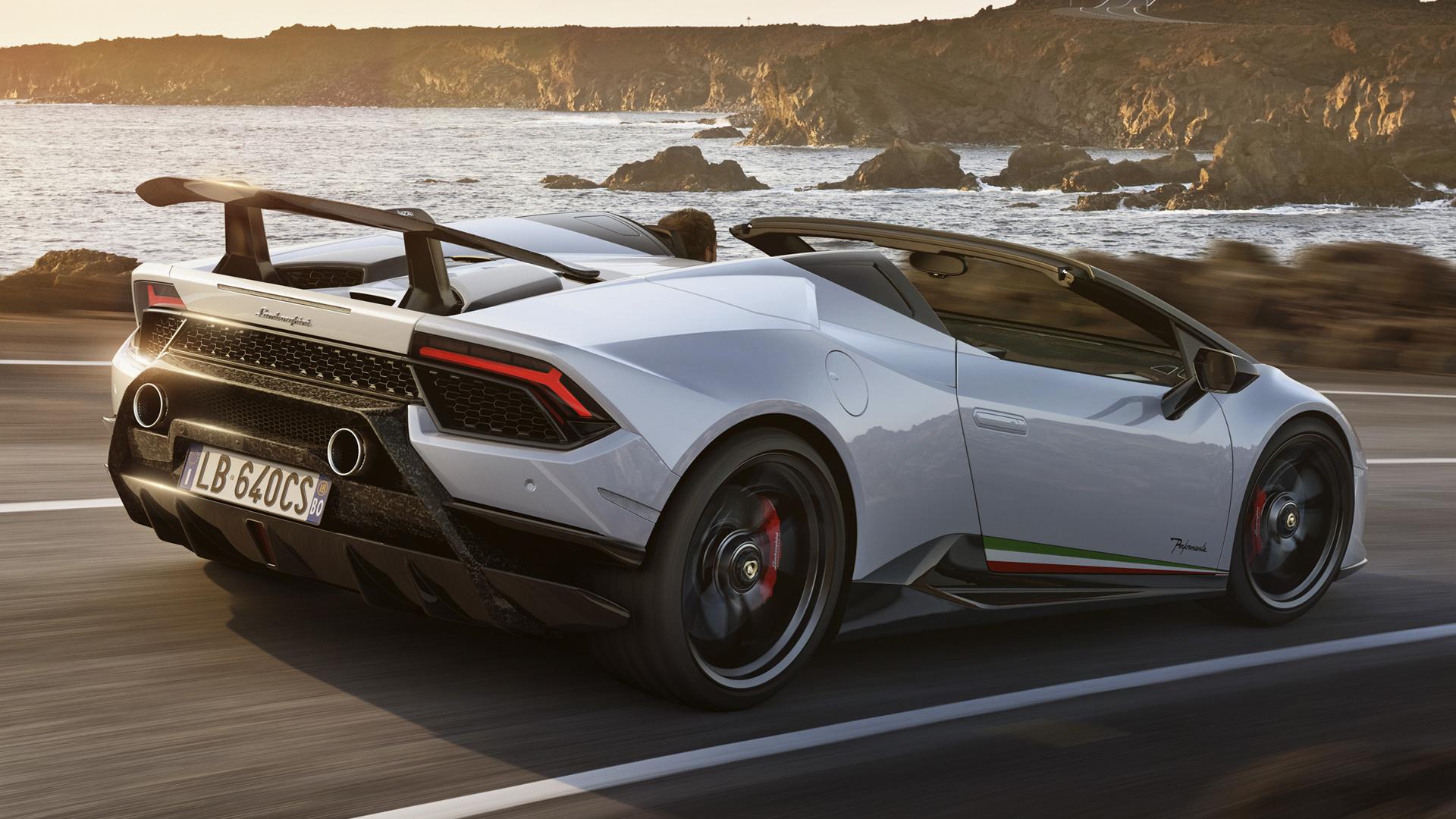 2018 Lamborghini Huracan Performante Spyder   Wallpapers and HD 1920x1080