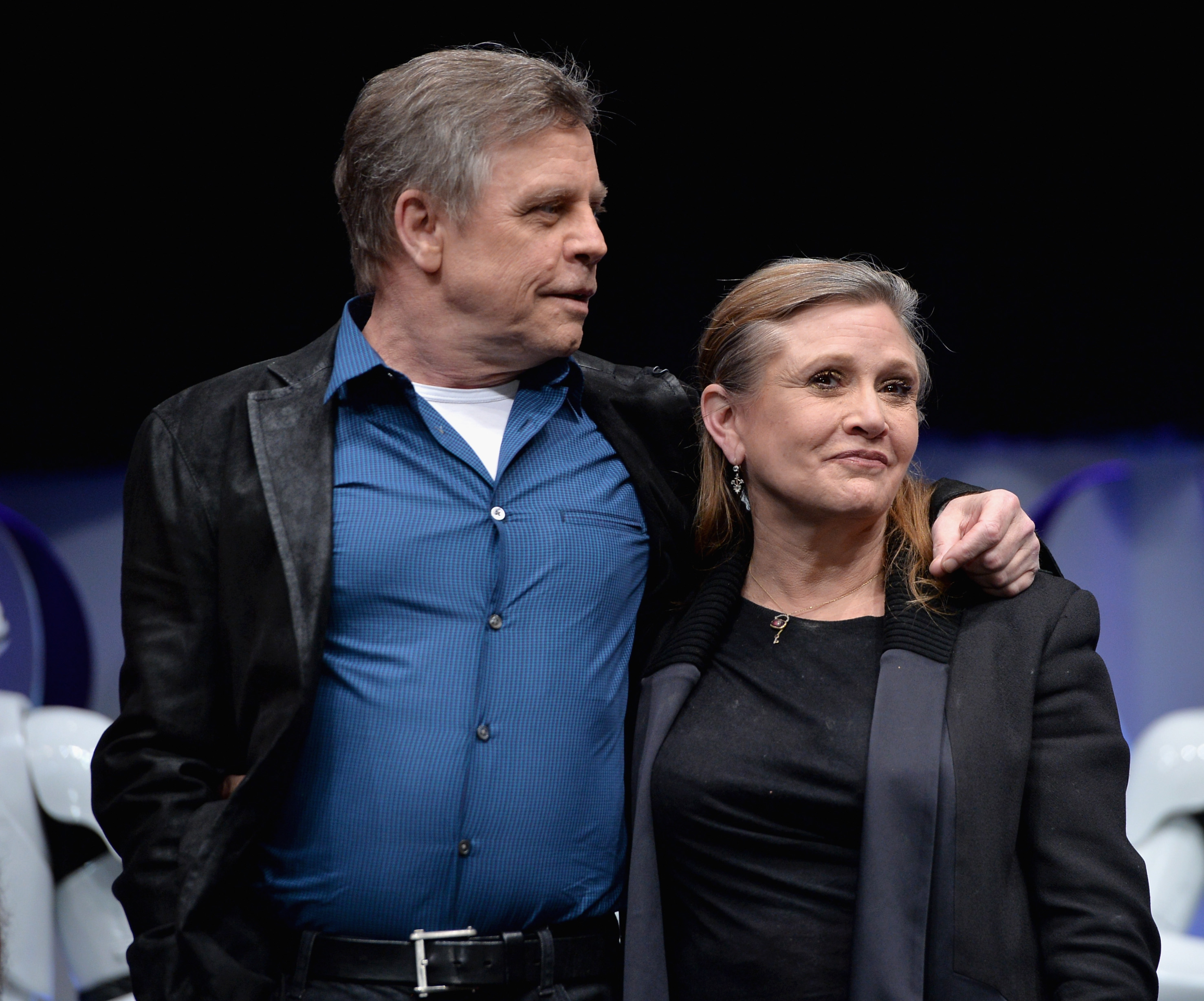 Star Wars images Mark Hamill and Carrie Fisher aka Luke Skywalker 2955x2456