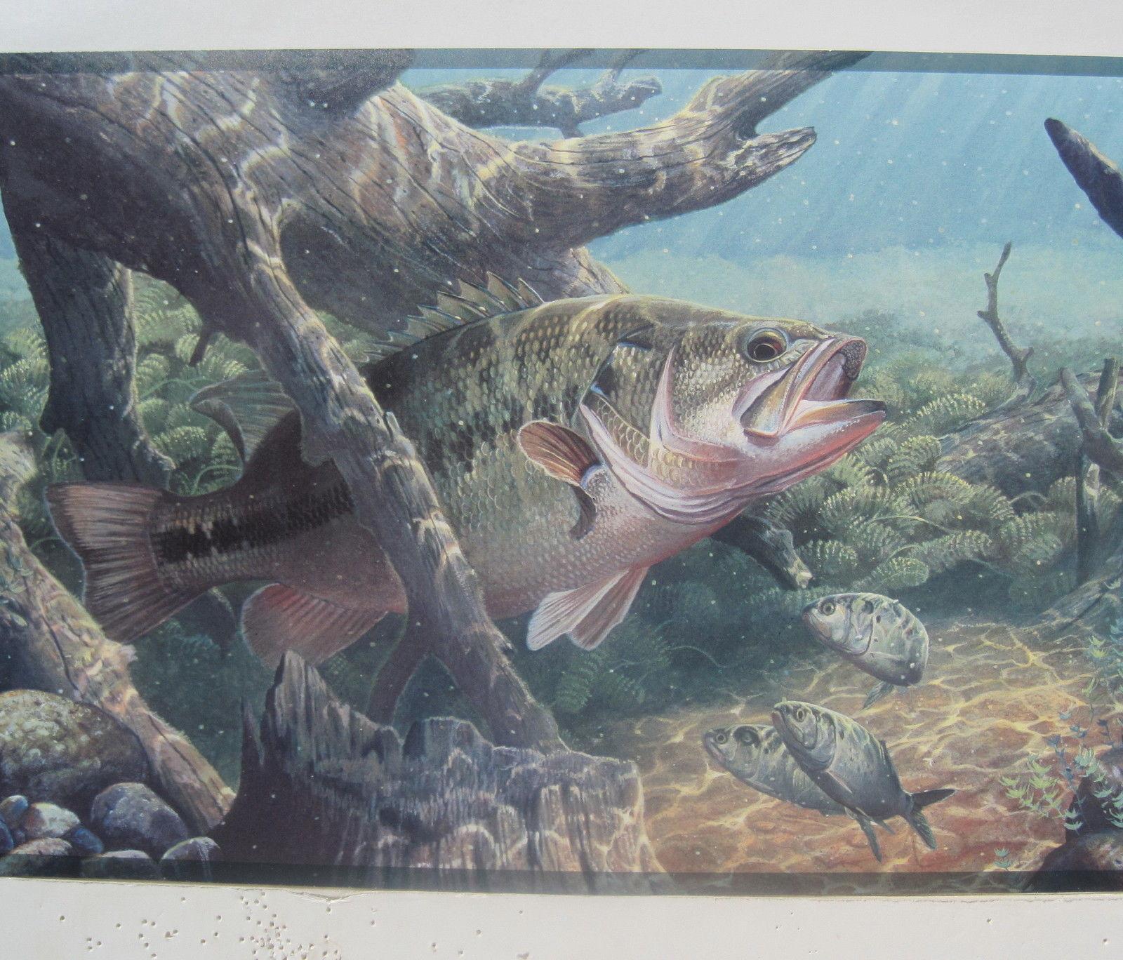 BASS FISHING FRESH WATER FISHING Wallpaper Border 9 57jpg 1600x1368
