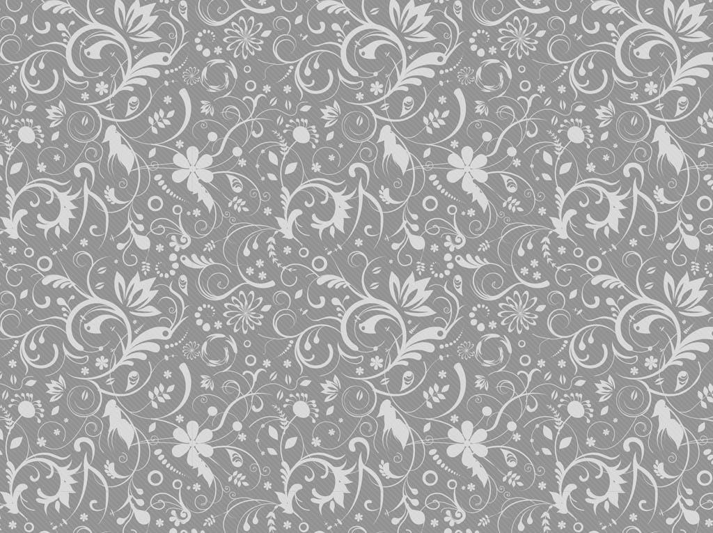Gray Floral Pattern 1024x765