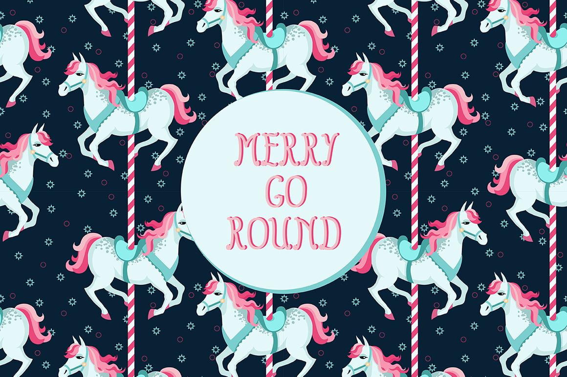 Merry Go Round Illustrations on Creative Market 1160x772