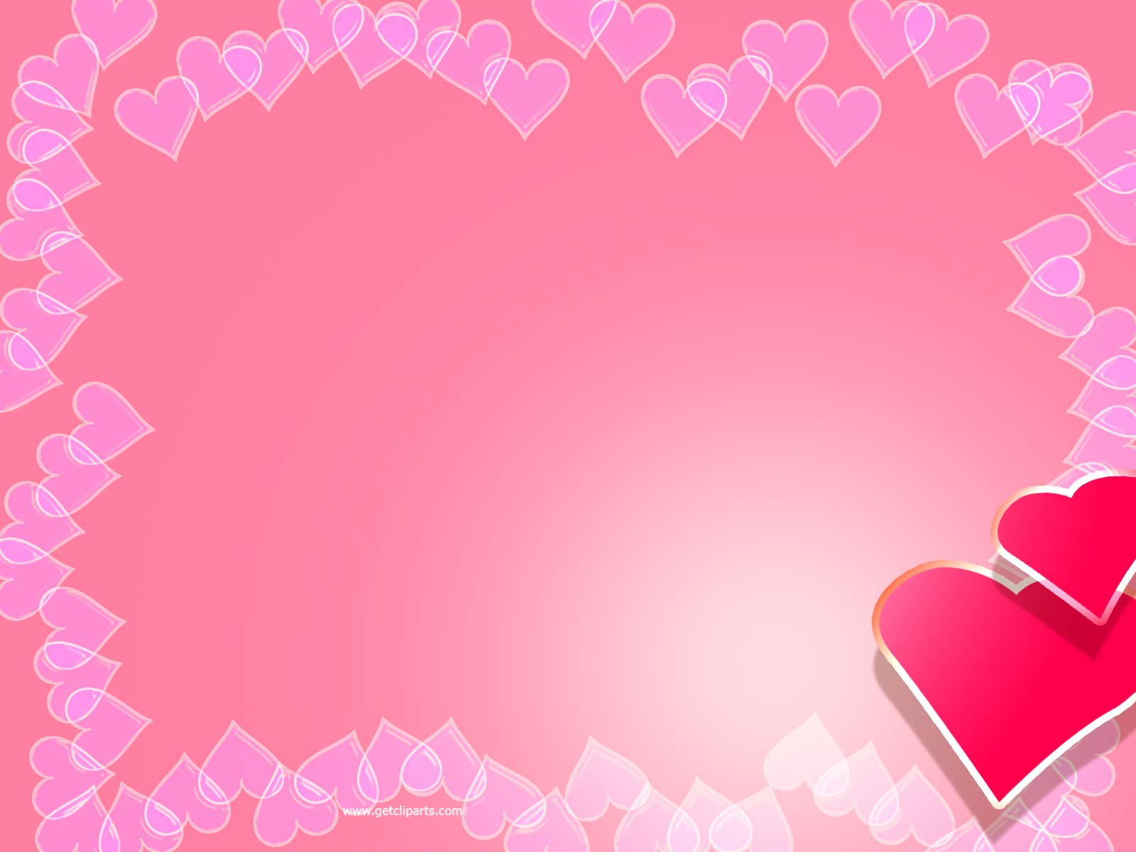 Valentine Backgrounds For PowerPoint   Border and Frame PPT Templates 1600x1200