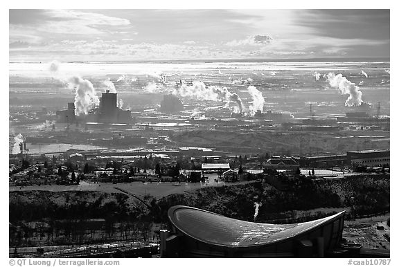 Seen From The Tower Calgary Alberta Canada Black And White 576x386