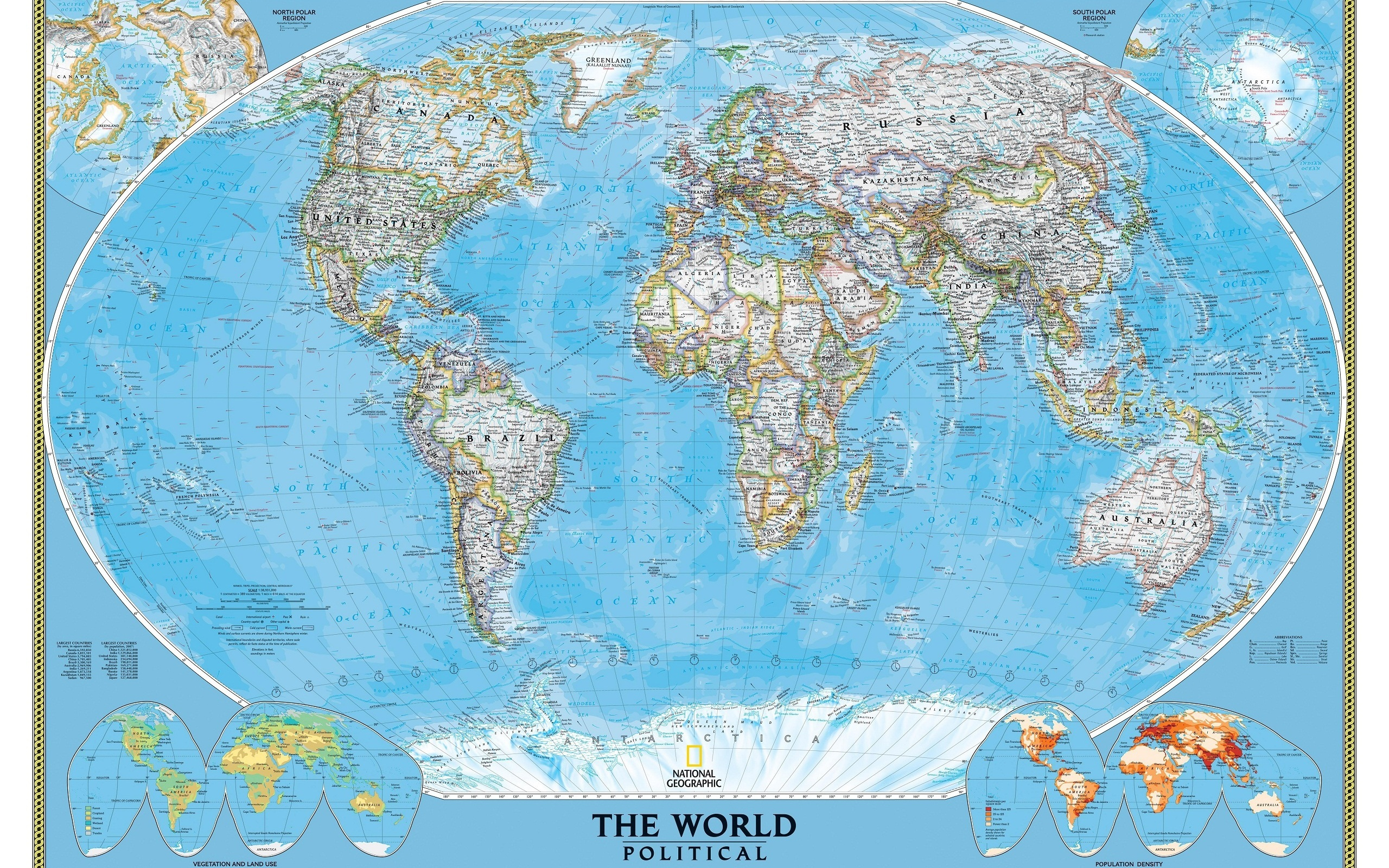 Political Map of the World wallpapers and images   wallpapers 2560x1600