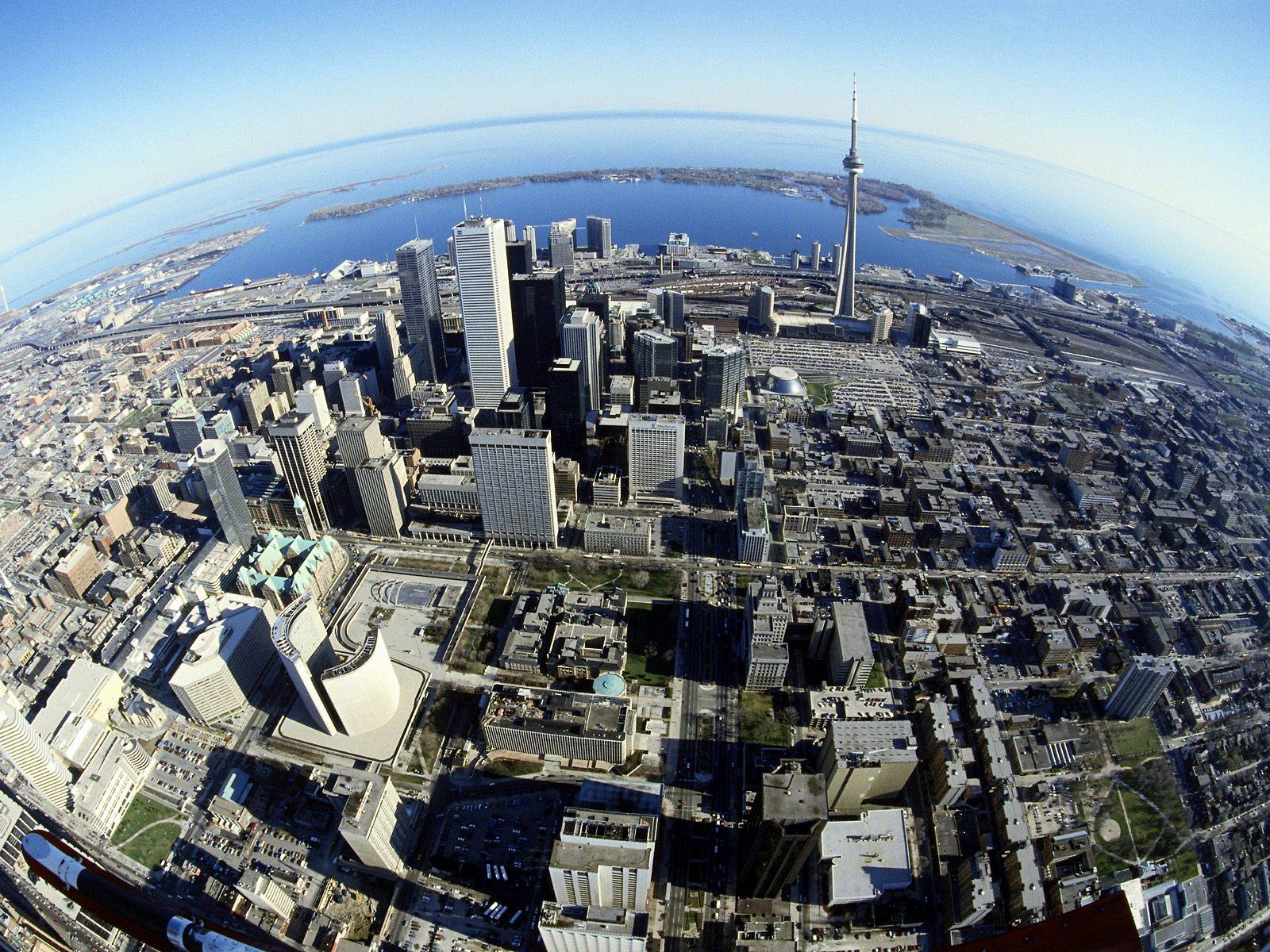 Birds Eye View of Toronto 1600x1200