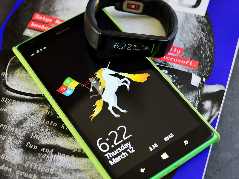 Here is the Microsoft Ninja Cat on a Unicorn for your Microsoft Band 800x600
