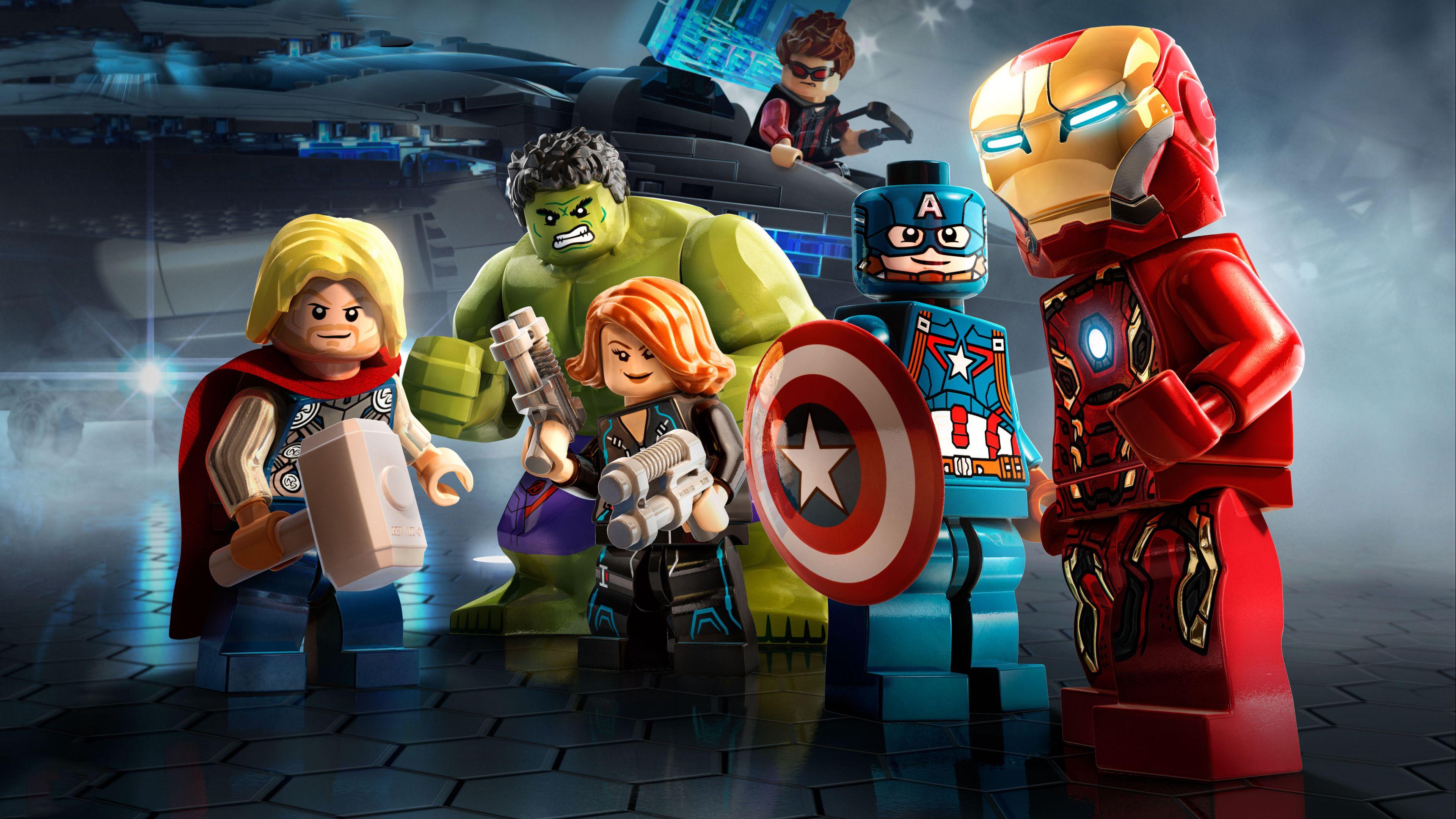 Marvel Avengers Lego 4k superheroes wallpapers lego wallpapers 3840x2160