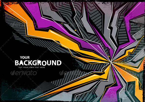 Cool abstract graffiti background Vector illustration ALL TEXT IS 590x417