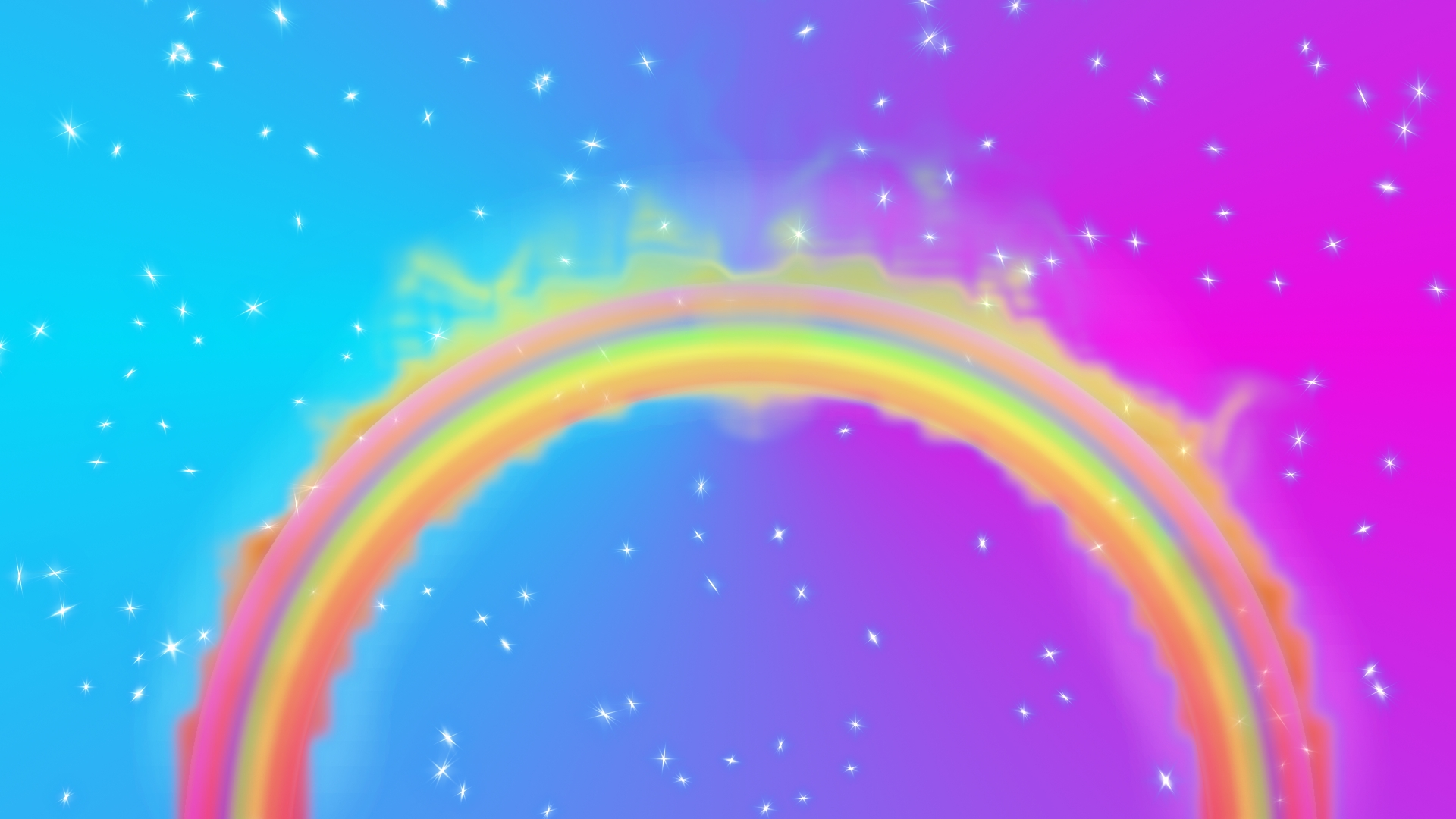 rainbow illustration wallpaper 1920x1080 - photo #8