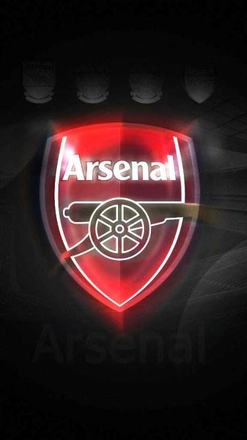 Arsenal FC Logo Mobile Phone Dark Wallpapers HD Wallpapers iPhone 5 360x640
