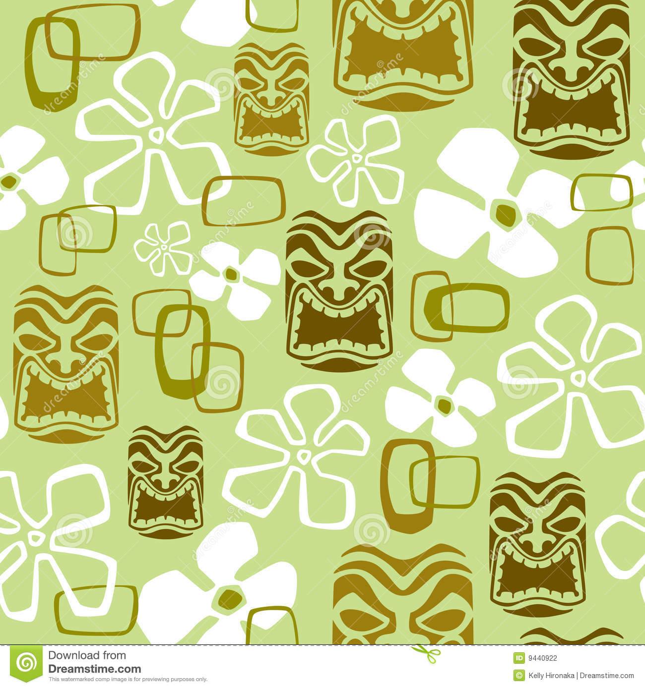 Polynesian Tribal Wallpaper: Hawaiian Tiki Wallpaper